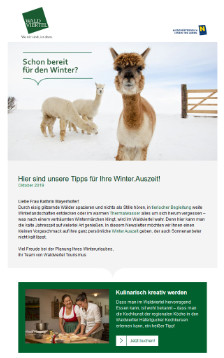 Winter.Auszeit im Newsletter
