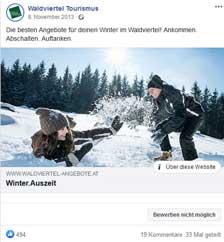Winter.Auszeit auf Facebook